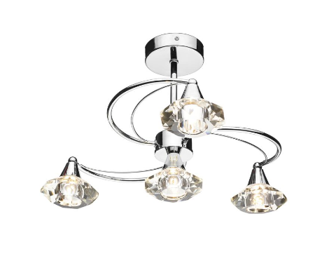Earlsfield Polished Chrome 4 Lamp Ceiling Light - ID 1503