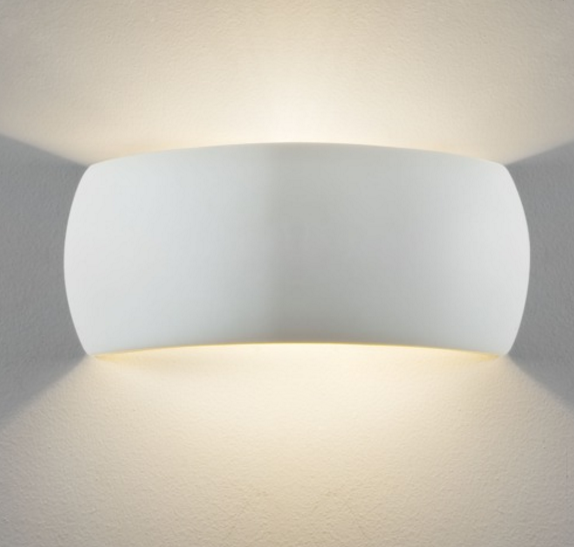 Bickley Small Curved Ceramic Wall Uplight - ID 5789