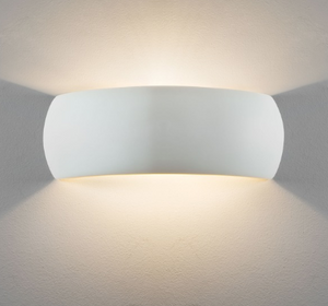 Bickley Large Curved Ceramic Wall Uplight - ID 7878