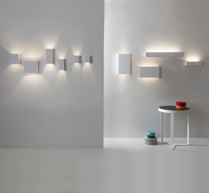 Perivale LED Contemporary White Plaster Wall Uplighter - ID 2233