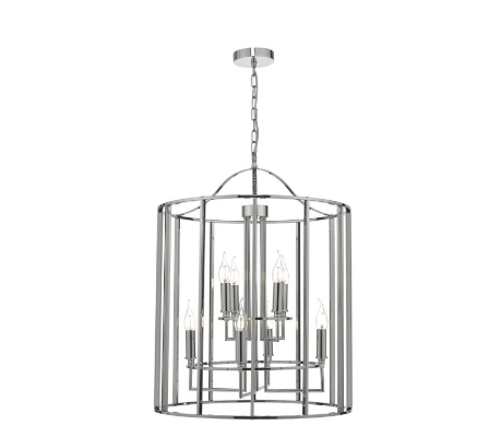 Wapping Large Polished Chrome Lantern - ID 7948
