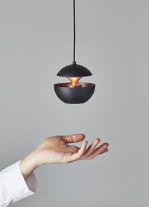 10cm Mini Aluminium Globe Pendant In Black & Copper - ID 6526