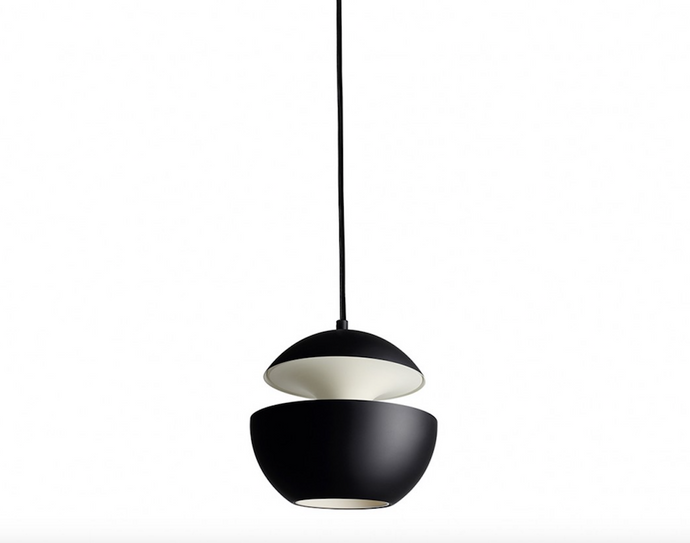 10cm Diameter Mini Aluminium Globe Pendant In Black & White - ID 7998