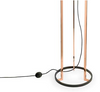 Becontree Copper and Black Floor Lamp with Shade - ID 8131