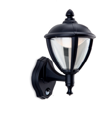 Isleworth Outdoor Uplight Wall Light With PIR - ID 8329