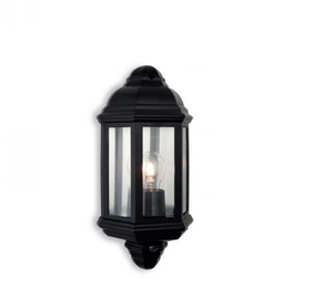Frien Black Outdoor Wall Lantern with PIR - ID 8335