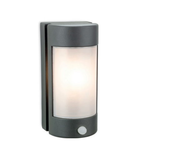 Crews Graphite Outdoor Wall Lantern with PIR - ID 8336