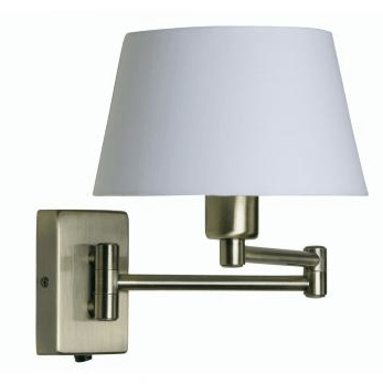 Hilton Double Swing Arm Wall Light Finished In Satin Chrome - ID 330