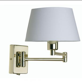 Hilton Double Swing Arm Wall Light Finished In Polished Brass - ID 331