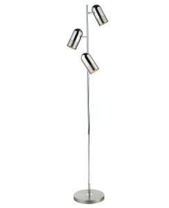 3 Light Floor Lamp In Satin Chrome - ID 8431