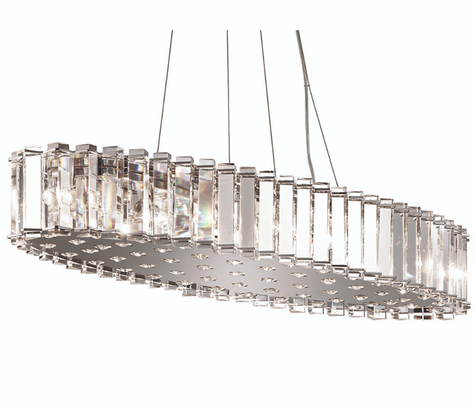 Hampstead Twelve Light Chrome IP44 Chandelier - ID 8582
