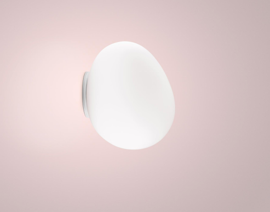 Foscarini Gregg Midi IP44 Wall/Ceiling Light with opal glass & white base - ID 9612