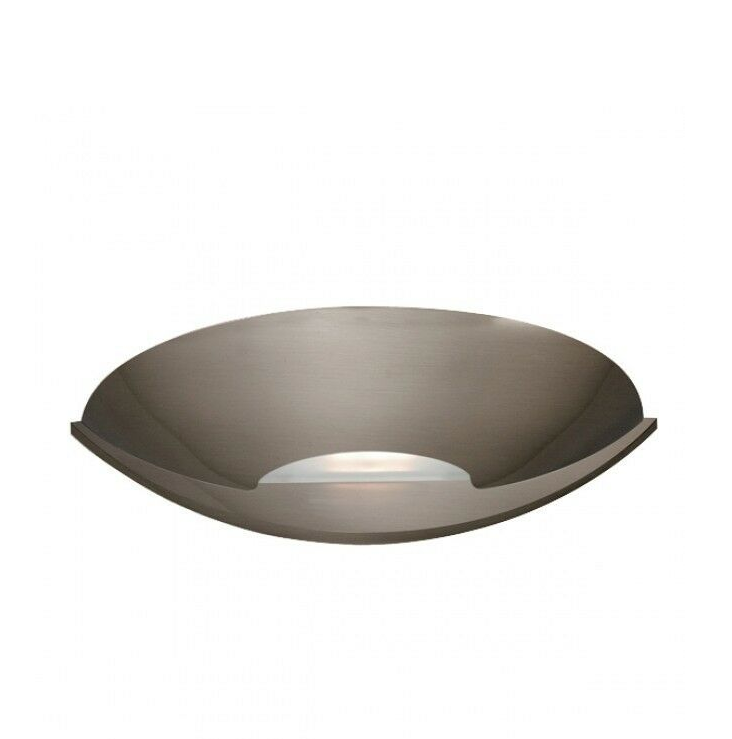 Satin Silver Halogen Wall Uplighter with Glass Insert - ID 307