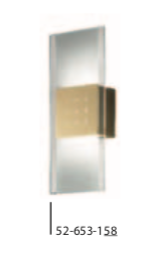 Grossmann 52-653 -58 Magic Satin Brass Wall Light - ID 187