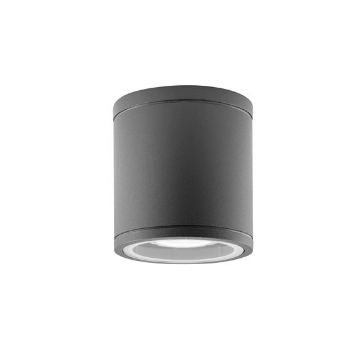 NL exterior IP54 dark grey cylindrical GU10 downlight - ID 9077
