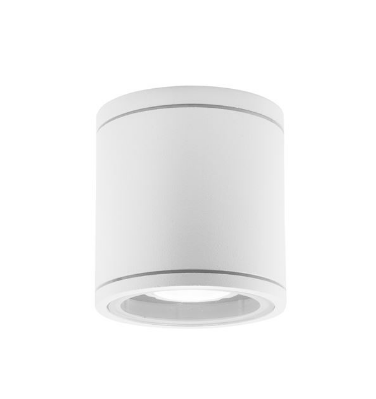 NL exterior IP54 white cylindrical GU10 downlight - ID 9078