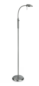 Satin Chrome Adjustable Reading Lamp with Dimmer - ID 6894
