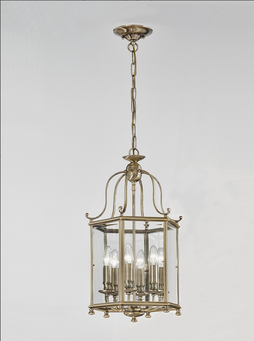 Glenelg 6 Lamp Antique Brass Lantern - ID 9295