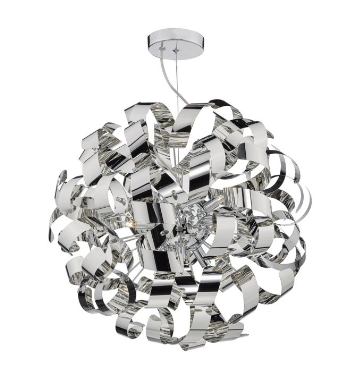 Becontree Polished Chrome 9 Light Pendant - ID 7904