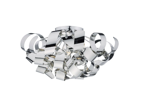 Becontree Polished Chrome Large Flush Ceiling Light - ID 5780
