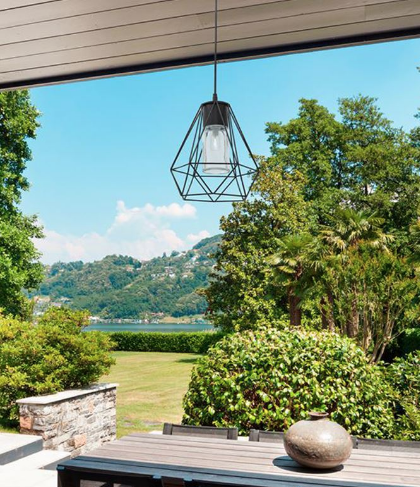 Black Die-Cast Aluminium Outdoor Pendant - ID 9360