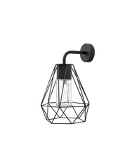 Black Wire Frame Aluminium Outdoor Wall Light IP54 - ID 9366