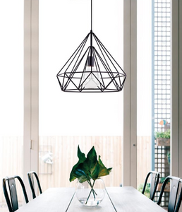 Black Conical Wire Frame Pendant - ID 9388