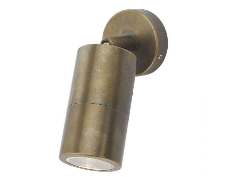 Brushed Antique Brass Finish Solid Aluminium Outdoor Wall Light - ID 9487