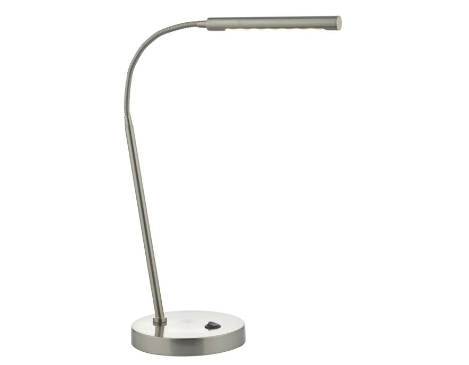 Tobermory Sleek Satin Chrome LED Task Lamp With Adjustable Neck - ID 9427
