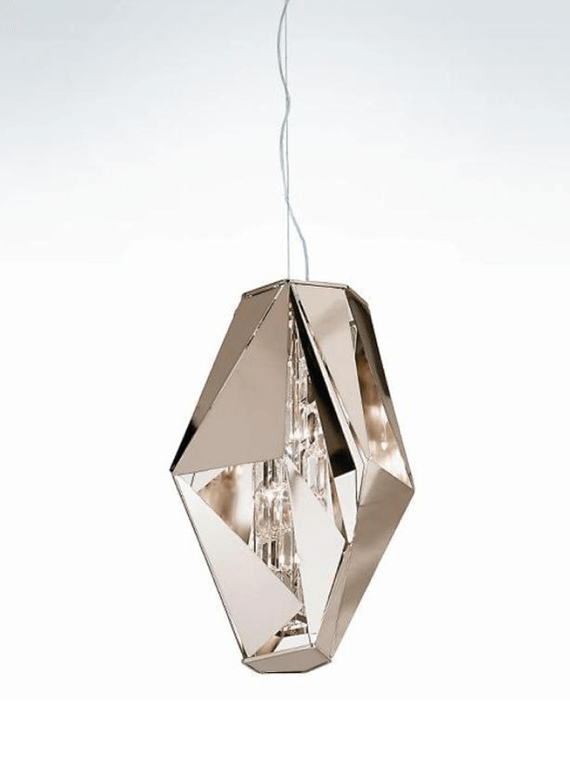 IDL Crystal Rock Suspension 3 Lamp - London Lighting - 1