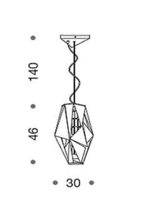 IDL Crystal Rock Suspension 3 Lamp - London Lighting - 3