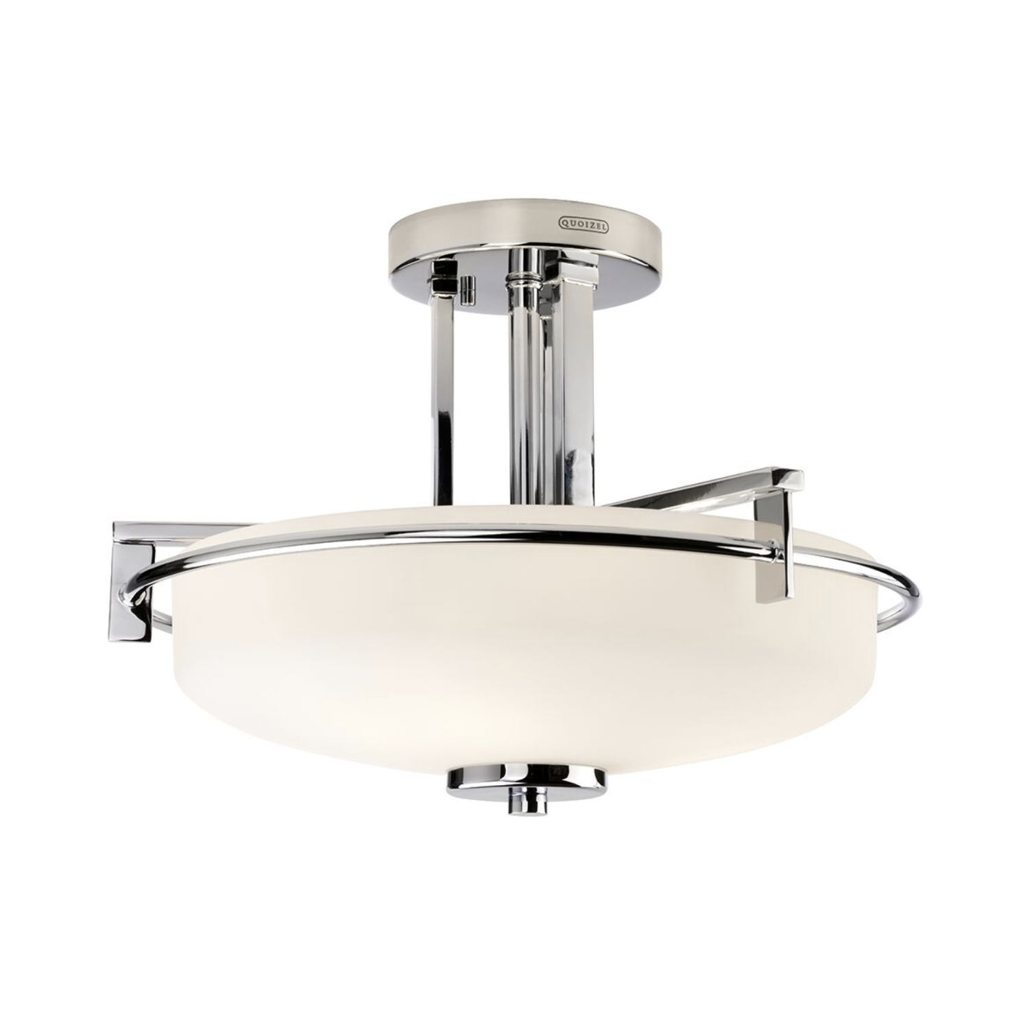 Glencoe Three Light Polished Chrome Semi Flush Bathroom Light ID 9226