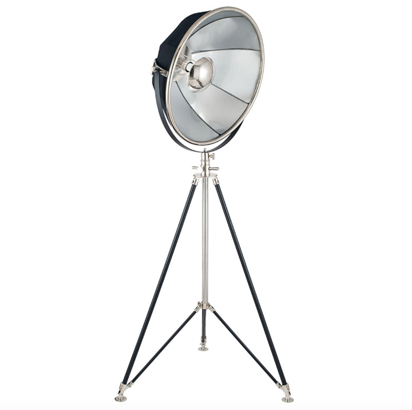 Black and Silver Theatre Tripod Floor Lamp - ID 10284