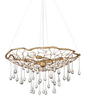 Dew Small Brushed Gold Organic Chandelier - ID 10290