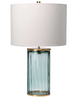 Gabe Prismatic Green Glass Table Lamp - ID 10294