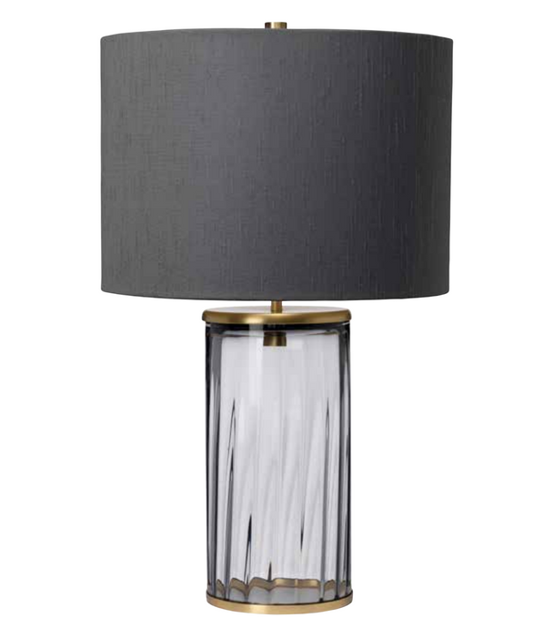 Gabe Prismatic Smoked Glass Table Lamp - ID 10295