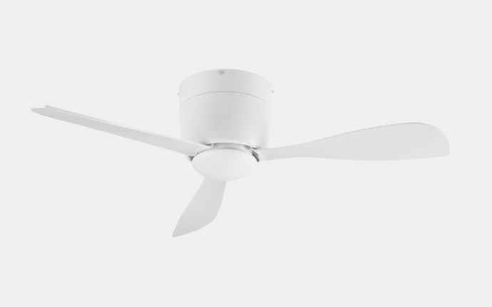 Bry Compact White Ceiling Fan with LED - ID 10322