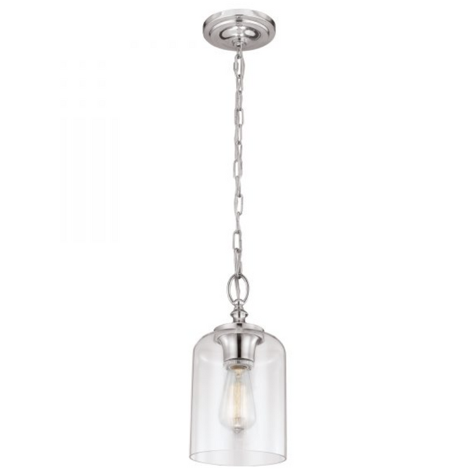 Rand Small Pendant with Clear Rounded Glass - ID 10334