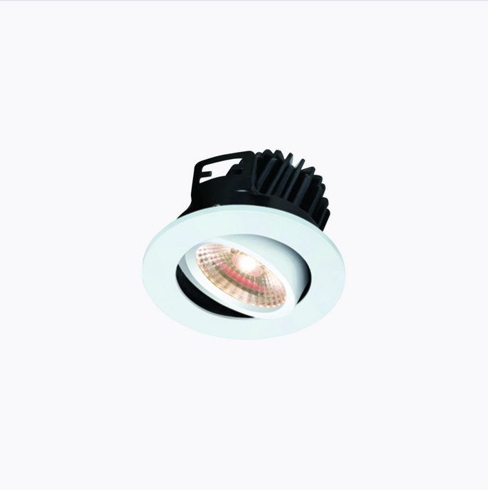 Ludlow Fire Rated 7watt 3000kelvin (Warm) Dimmable Adjustable LED Downlight IP20 White Finish - ID 8295