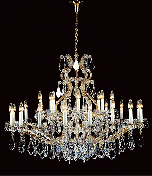 140cm ø 25 Lamp Czech Crystal Chandelier - ID 10408