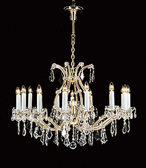 90cm ø 17 Lamp Czech Crystal Chandelier - ID 10401