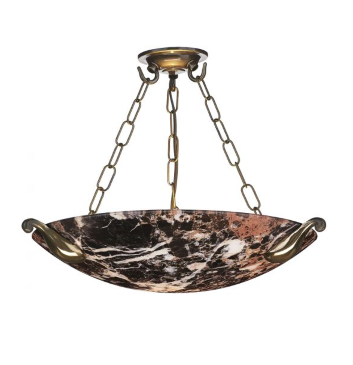 Mayfair Dark Marbled Glass Ceiling Light - ID 10413 - DISCONTINUED
