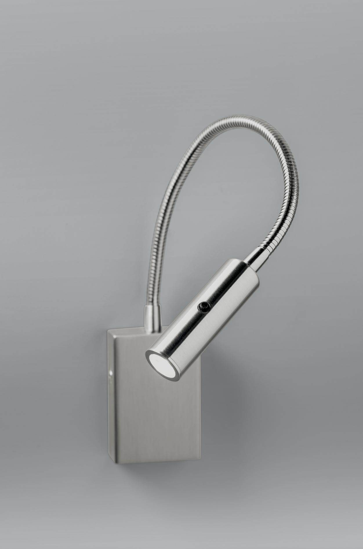 Satin Chrome Flexible Bedside Reading Light with Switch on Head - ID 10430