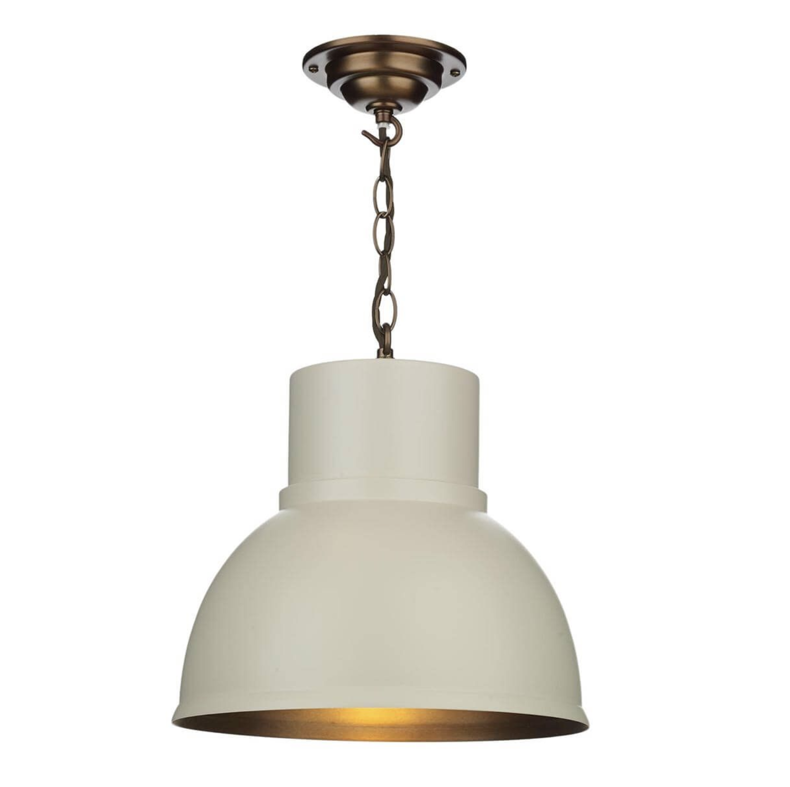 Cream Single Pendant with Antique Inner - ID 9450