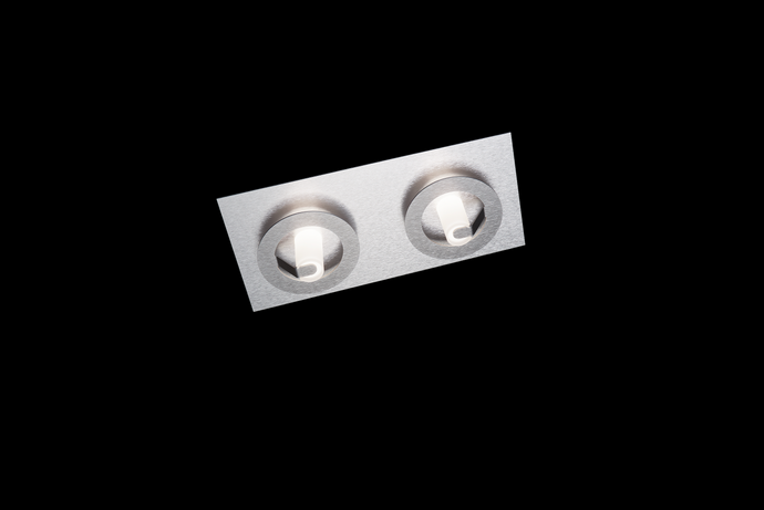 Grossmann Q Two Lamp Wall / Ceiling Light In Aluminium & light Grey - ID 10524