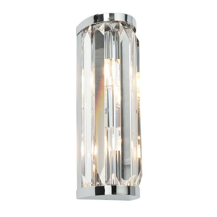 Chic Curved Crystal Bathroom Wall Light - ID 10754