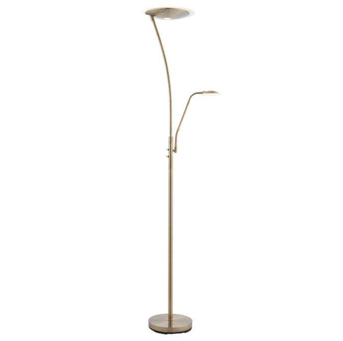 Antique Brass Mother and Child Floor lamp - ID 9888