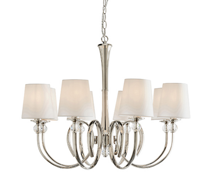 Abi 8 Arm Polished Nickel Chandelier - ID 10813
