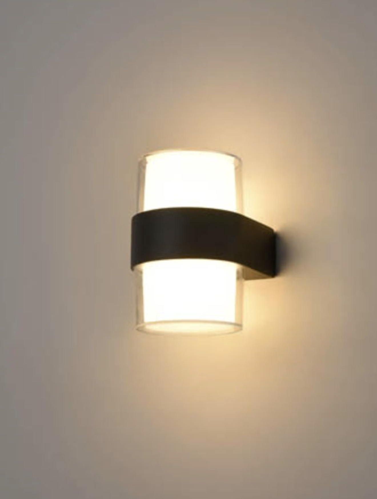 AUR Compact Matt Black Outdoor Wall Light - ID 10011