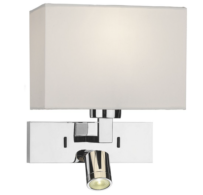 Chrome Bedside Wall Light - ID 10916